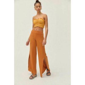 Urban Outfitters Jesse Wide Split Leg Pants Orange